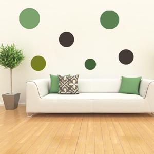 A1000-Dot-Miel-Lozange-sticker-Musique-Chien-Lune -stickers- -Amour-design-decoration-Geometrique-