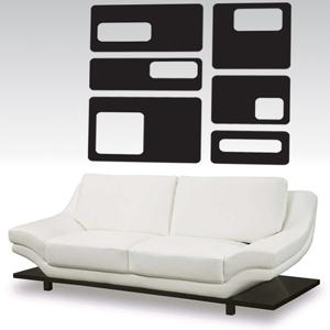 A1002-Rectangle-Miel-Lozange-sticker-Musique-Chien-Lune -stickers- -Amour-design-decoration-Geometrique-