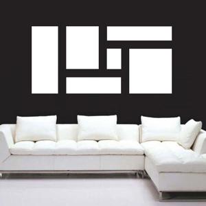 A1005-Square-Forme-sticker-Musique-Chien-Lune-Cuisine-stickers-Cage-Amour-design-decoration-Geometrique-