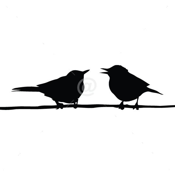 B2507-Decor-animal-bird-sticker-wall