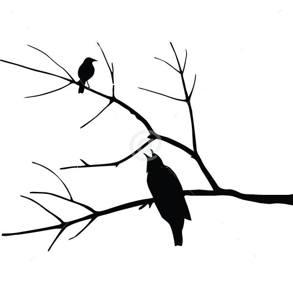 B2508-Decor-animal-bird-sticker-wall