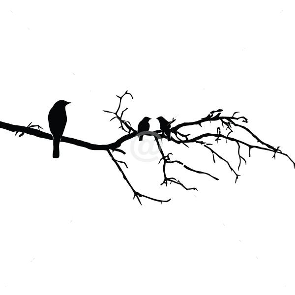 B2509-Decor-animal-bird-sticker-wall