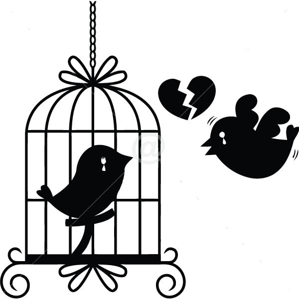 B2512-Decor-animal-bird-sticker-wall
