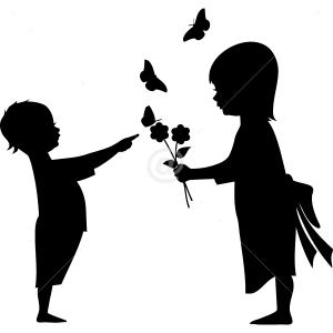 B2515-Butterfly-Kids-Flower