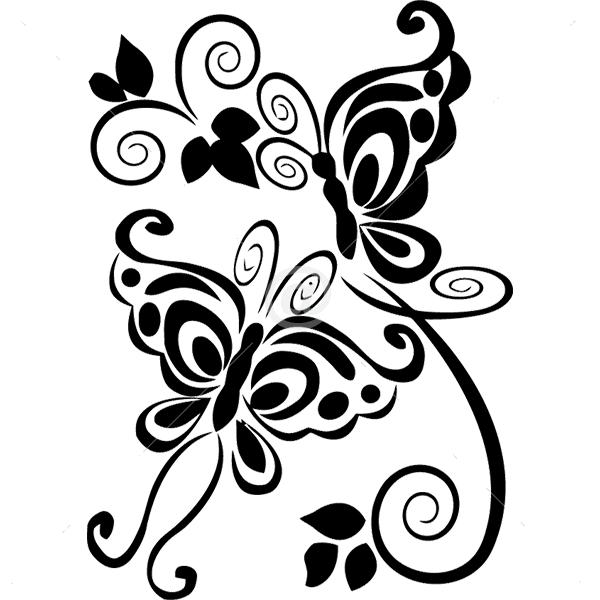 B2519-Decor-animal-butterfly-sticker-wall