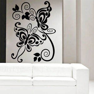 B2519-Decor-animal-butterfly-sticker-wall