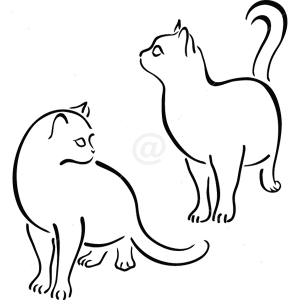 B3000-Decor-animal-butterfly-sticker-wall-cat