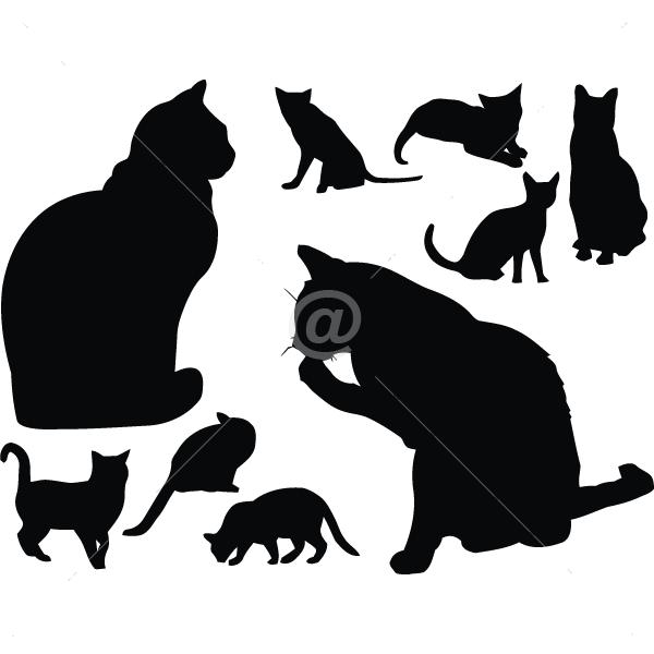 B3003-Decor-animal-family-sticker-wall-cat