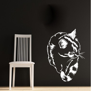 B3006-Decor-animal-butterfly-sticker-wall-cat