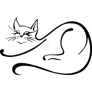 B3007-Decor-animal-butterfly-sticker-wall-cat