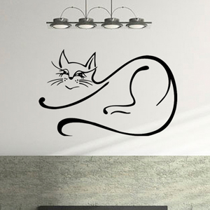 B3007-Decor-animal-butterfly-sticker-wall-cat