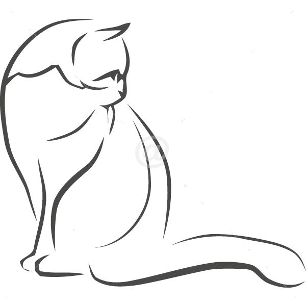 B3008-Decor-animal-butterfly-sticker-wall-cat