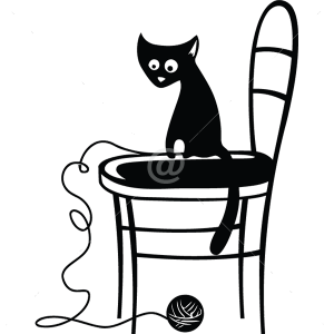 B3011-Decor-animal-butterfly-sticker-wall-cat