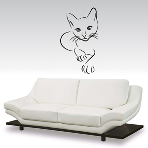 B3014-Decor-animal-butterfly-sticker-wall-cat