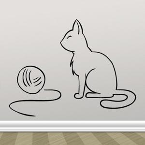 B3015-Decor-animal-butterfly-sticker-wall-cat