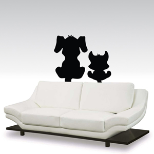 B3017-Decor-animal-butterfly-sticker-wall-cat