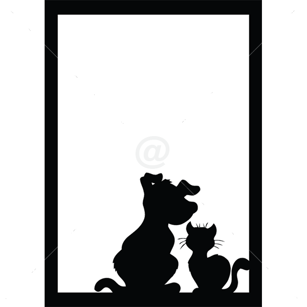 B3018-Decor-animal-dog-sticker-wall-cat