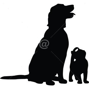 B3019-Decor-animal-dog-sticker-wall-cat