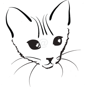 B3020-Decor-animal-dog-sticker-wall-cat