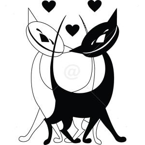B3023-Decor-animal-Love-sticker-wall-cat