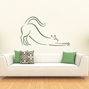B3025-Decor-animal-Love-sticker-wall-cat