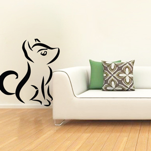 B3027-Decor-animal-dog-sticker-wall-cat