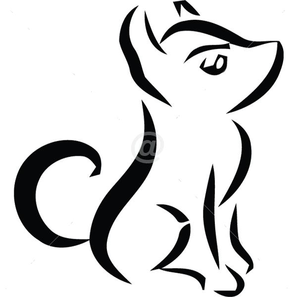 B3027-Decor-animal-dog-sticker-wall-cat