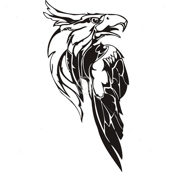 B3034-Decor-animal-Eagle-sticker-wall-cat