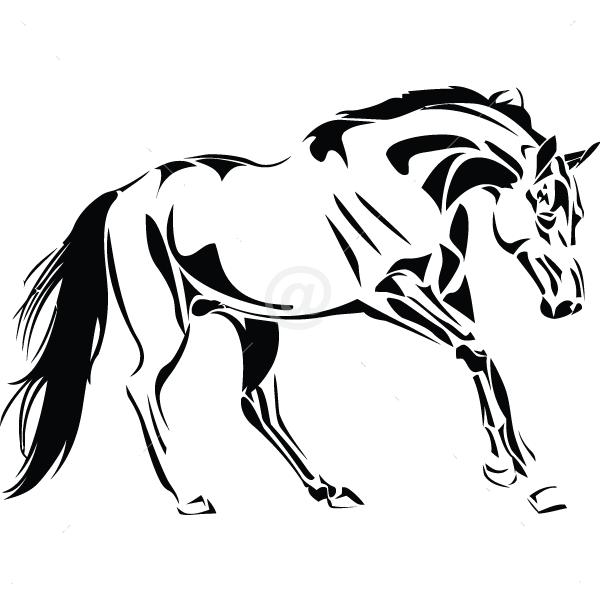 B3042-Decor-animal-Horse-sticker-wall-free