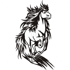 B3044-Decor-animal-Horse-sticker-wall-free