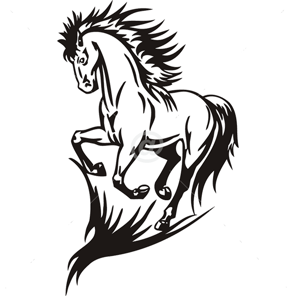 B3045-Decor-animal-Horse-sticker-wall-free