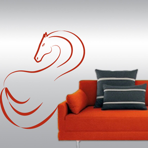 B3046-Decor-animal-Horse-sticker-wall-free