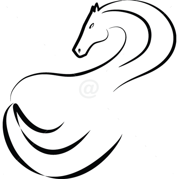 B3046-Decor-animal-Horse-sticker-wall-free