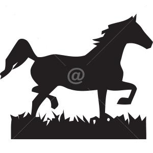 B3047-Decor-animal-Horse-sticker-wall-free
