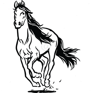 B3048-Decor-animal-Horse-sticker-wall-free