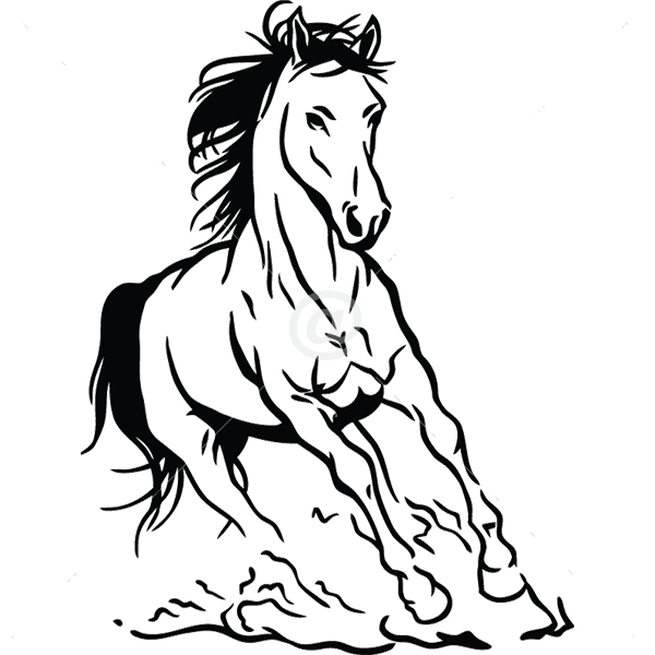 B3049-Decor-animal-Horse-sticker-wall-free