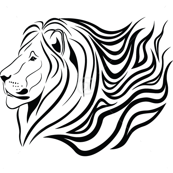 B3052-Decor-animal-lion-sticker-wall-free