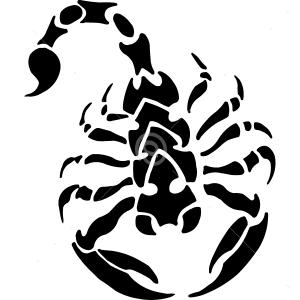 B3054-Decor-animal-scorpion-sticker-wall-free
