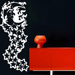 N2400-Etoile-sport-sticker-Noel-Arbre-Lune-Cuisine-stickers-lavage-Magasinage-design-decoration-Rose