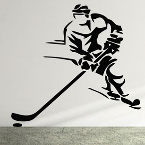 S2303-Hockey-sport-sticker-wall