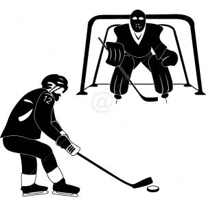 S2307-Hockey-sport-sticker-wall