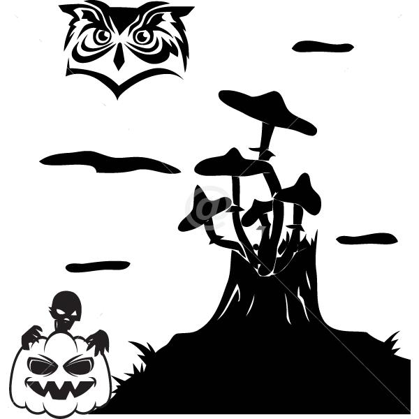 V4020-Holidays-sport-sticker-wall-halloween