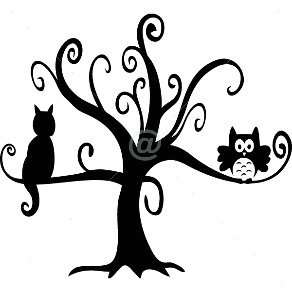 V4028-Tree-sport-sticker-wall-halloween