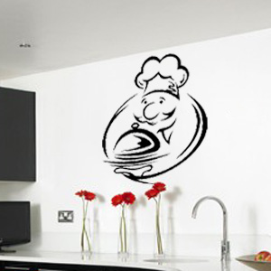 V4031-Cuisine-Chef-kitchen-cuisine-stickers-food-lavage-shopping