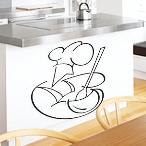 V4038-Cuisine-Chef-kitchen-cuisine-stickers-food-lavage-shopping