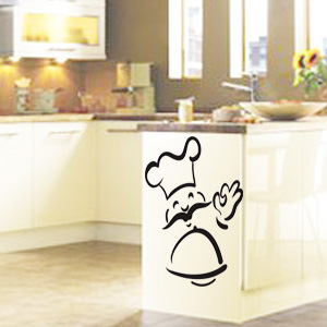 V4039-Cuisine-Chef-kitchen-cuisine-stickers-food-lavage-shopping