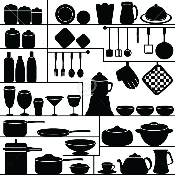 V4046-Cuisine-Chef-kitchen-cuisine-stickers-food-lavage-shopping