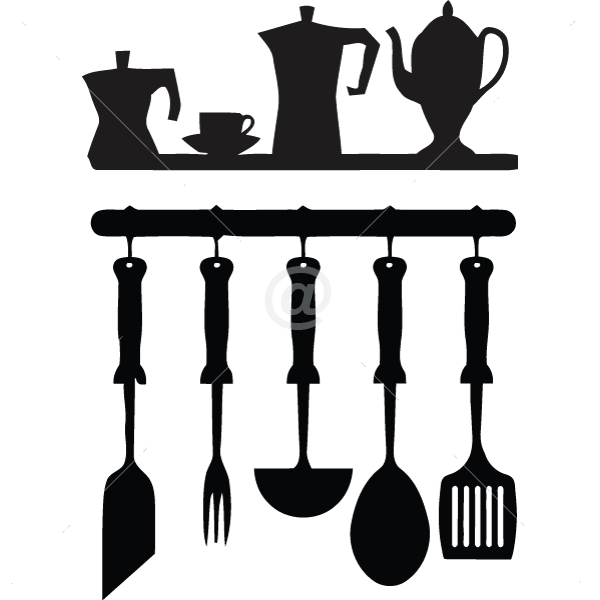 V4048-Cuisine-Chef-kitchen-cuisine-stickers-food-lavage-shopping