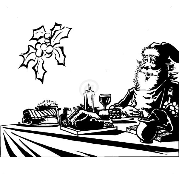 V4053-Noel-Arbre-Chef-Cuisine-stickers-lavage-Magasinage-design-decoration