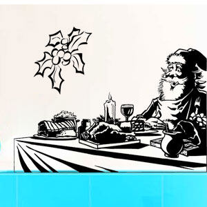 V4053--Christmas-tree-Chef-kitchen-cuisine-stickers-food-lavage-shopping
